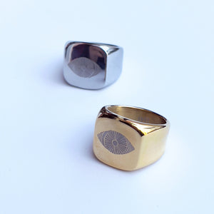 Both colors stainless steel oculus ring
