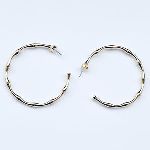 Yellow gold filled shiloh hoop earrings