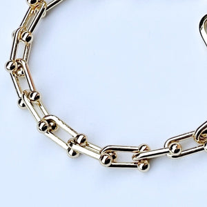 Yellow gold filled chain Classique bracelet