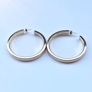 Yellow gold filled NYC hoop earrings