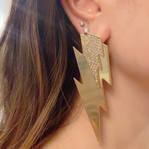 Yellow layered thunder earrings