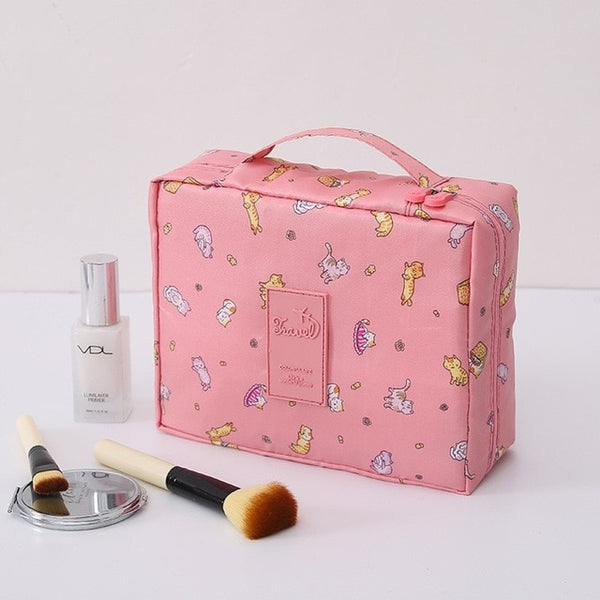 SAFEBET Brand Women Cosmetic Bag Multifunction Organizer Waterproof Portable Makeup Bag Travel Necessity Beauty Case Wash Pouch