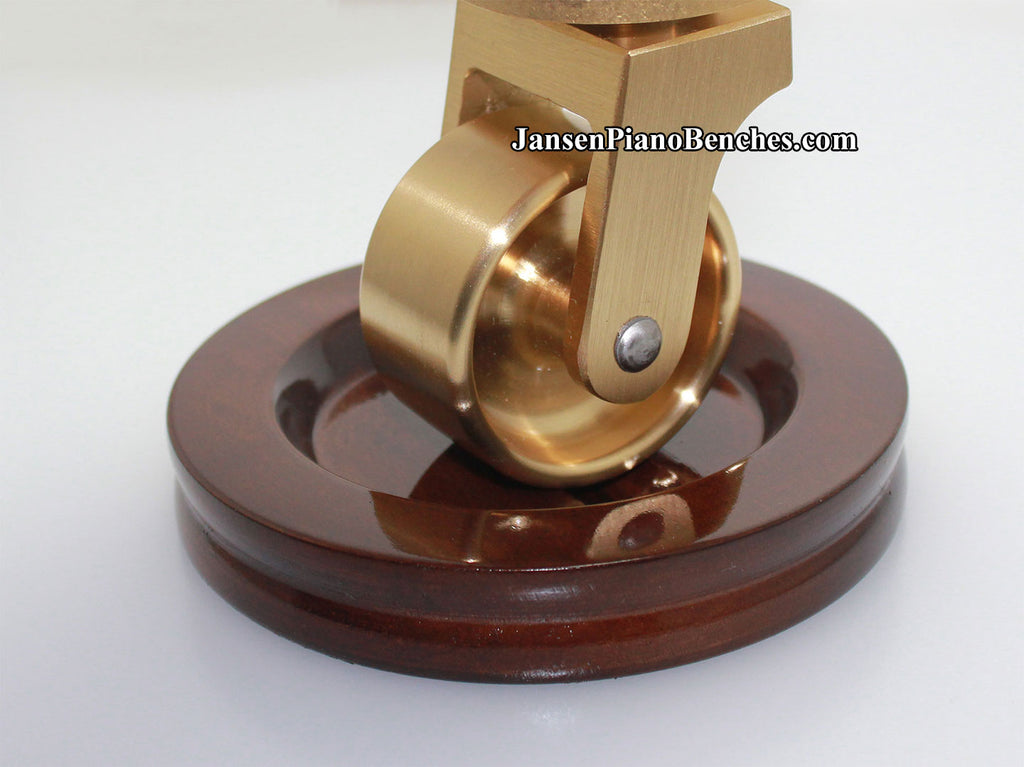 piano wheels upright casters brass