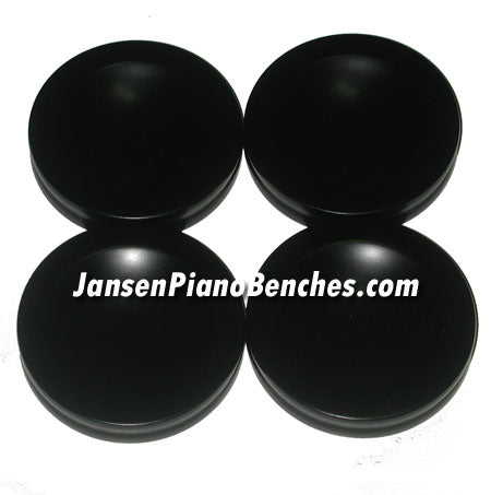 satin black piano caster cups Jansen