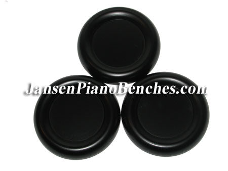 black grand piano caster cups with felt pads schaff