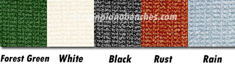 Piano Bench Cushion Color Options White Black Rust