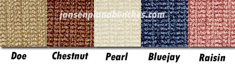 grk piano bench cushion colors doe brown pearl bluejay