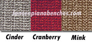 piano bench pad colors cinder gray cranberry mink