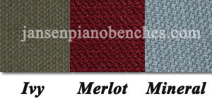 GRK piano bench cushion colors merlot ivy mineral