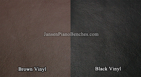 jansen vinyl piano cover material brown and black sample