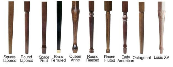 Jansen grand piano bench leg style options