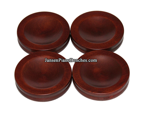 satin mahogany upright piano caster cups Jansen