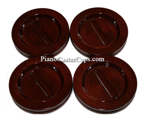 mahogany high polish grand piano caster cups by Jansen