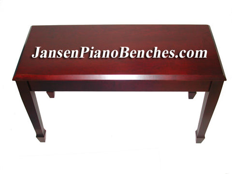 red mahogany finish piano bench