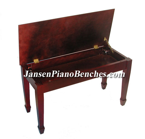 jansen red mahogany piano bench
