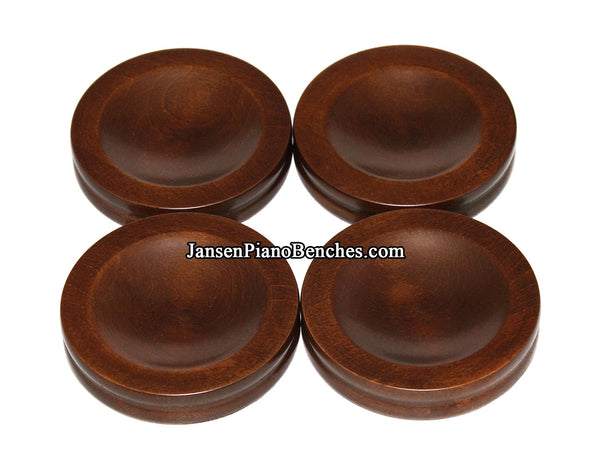 jansen piano caster cups satin walnut