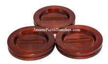 Load image into Gallery viewer, grand piano caster cups mahogany high polish by Jansen