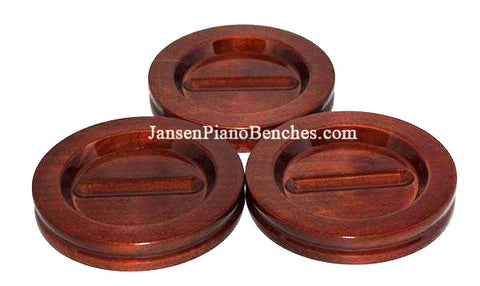 grand piano caster cups mahogany high polish by Jansen