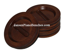 Load image into Gallery viewer, hardwood grand piano caster cup satin walnut finish Jansen