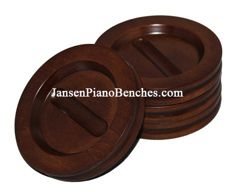 hardwood grand piano caster cup satin walnut finish Jansen