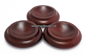 mahogany piano caster cups 836m royal wood