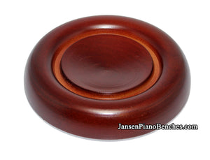 mahogany piano caster cup 837m royal wood
