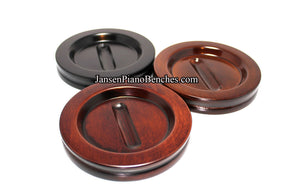 "4 1/2"" Jansen Satin Grand Piano Caster Cups"