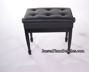 J850 jansen adjustable piano bench ebony high gloss