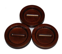 Load image into Gallery viewer, jansen satin mahogany piano caster cup