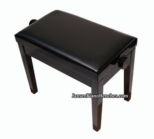 adjustable height piano bench ebony high gloss