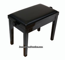 Load image into Gallery viewer, adjustable height piano bench black high polish