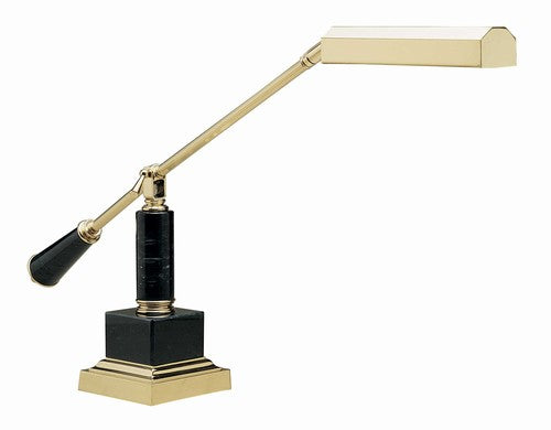 House of Troy Balance arm piano lamp polish brass and black marble square base no. 4777