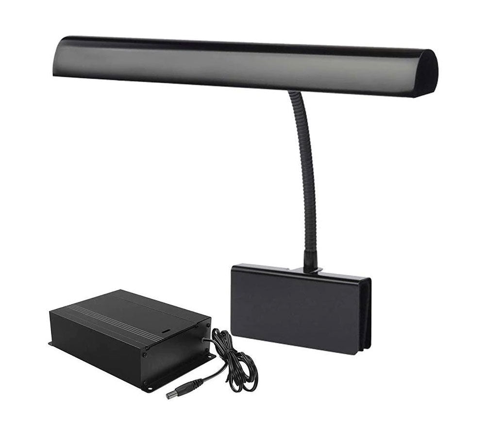 Battery Operated LED Piano Lamp Adjustable Gooseneck Clip On