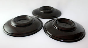 black plastic piano caster cups