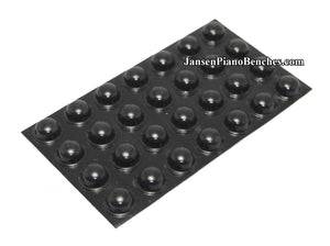 black piano buttons adhesive 357-black
