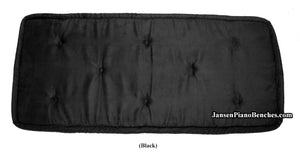 black piano bench cushion jansen