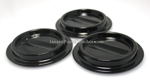 Black Lucite Piano Caster Cups 4-1/2""