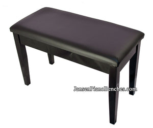 black high gloss upright piano bench