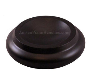 black piano caster cup royal wood 3 1/2 inch