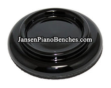 Load image into Gallery viewer, black grand piano caster cups hardwood