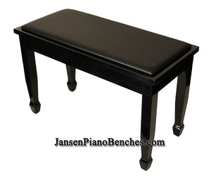 black high polish yamaha piano bench