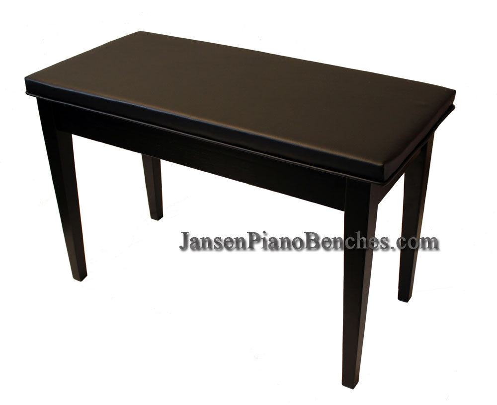 piano bench upholstered top black schaff