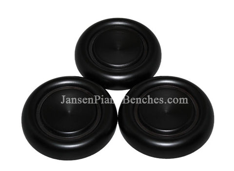black grand piano caster cups with felt pads