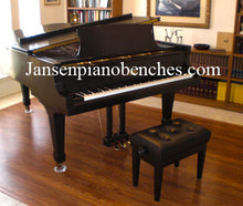 Load image into Gallery viewer, black petite artist bench vinyl top jansen