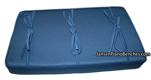 piano bench cushion blue jay kashmere box top pad