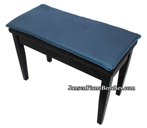 piano bench cushion bluejay
