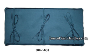 grk piano bench cushion blue jay