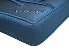 Load image into Gallery viewer, piano bench pad blue cushion