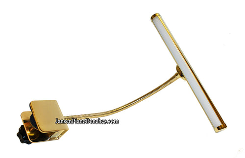 led piano lamp clip on brass finish
