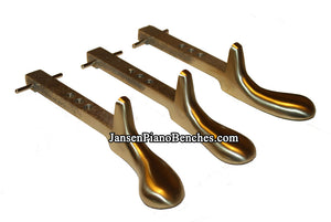brass upright piano pedals model 1583